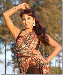 Sanjana Hot Saree New Stills