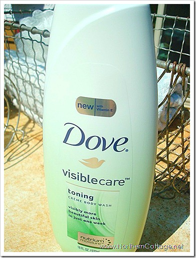 dove visible care toning