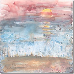 mixed media sunset 11 11 11