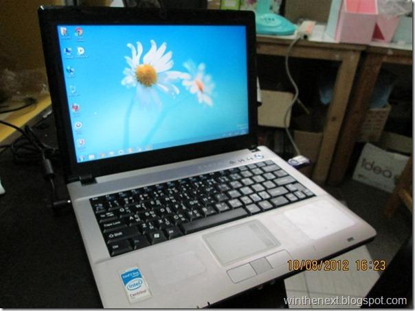 ทดลองติดตั้ง Windows 8 Pro RTM บน SVOA Notebook