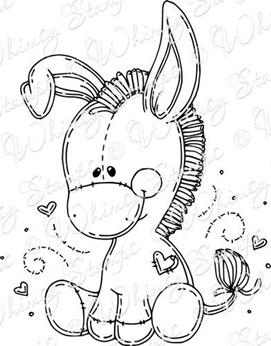 sweet little donkey rubber