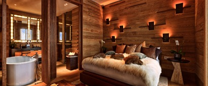 Chedi hotel switzerland interior design wood fur