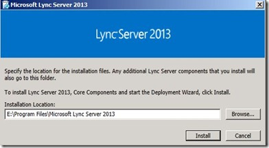 Lync 2013 - DB Location - 4 setup location