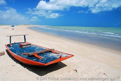 jangada na praia