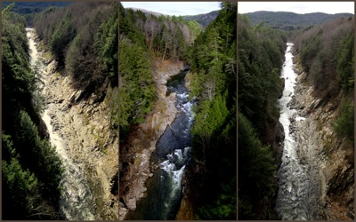 Quechee Gorge collage