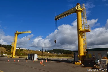 the boat hoist at Port Orford