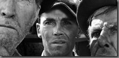 Henry Fonda (center) in John Ford's THE GRAPES OF WRATH (1940). Courtesy Photofest. Playing 11/26-12/2