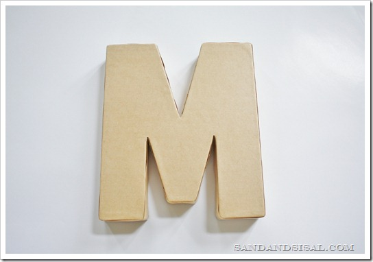 paper mache letter