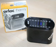 Arlac Thermi liquid crystal thermometer, black with box