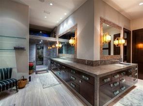 diseño-baño-moderno-suelo-madera