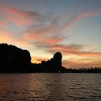 Railay Ost bei Sonnenuntergang
