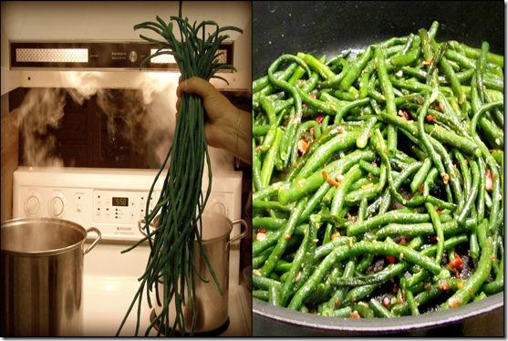 Asparagus bean collage