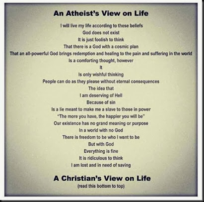 Atheist vs Christian View of Life