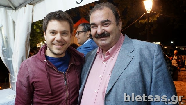 Με τον δήμαρχο του Μετσόβου, κο Νικόλαο Τσομπίκο.