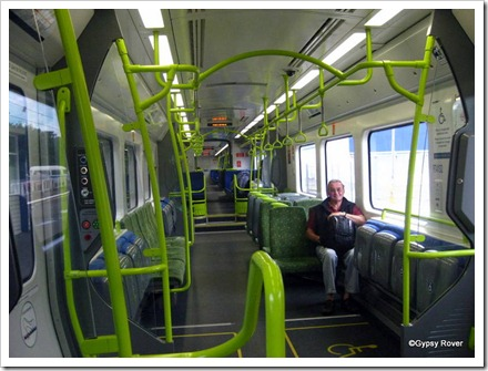 His lordship aboard a new Korean built Matangi electric unit from Upper Hutt to Wellington. Very nice!