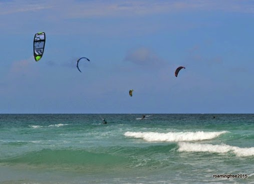 A great day for parasail surfing