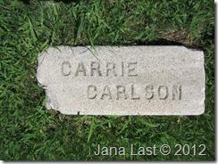 Karen Carlsson's Gravestone