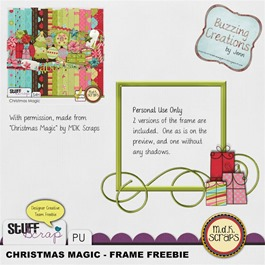 MDK Scraps - Christmas Magic - Frame Freebie Preview