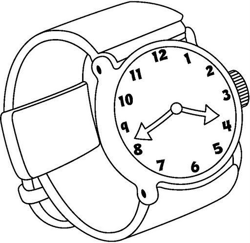 Reloj de mu eca dibujos para colorear for Watch coloring page