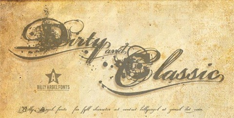 14-Dirty-and-Classic-font
