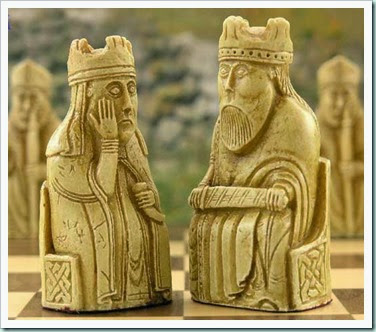 Lewis chess king and queen