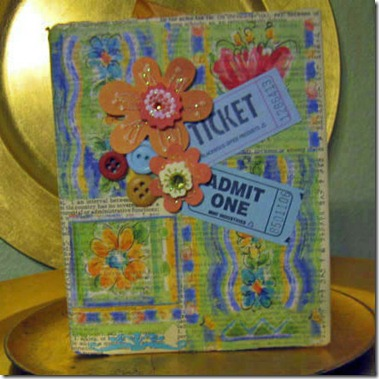 Ticket Altered book