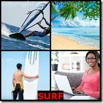 SURF- 4 Pics 1 Word Answers 3 Letters