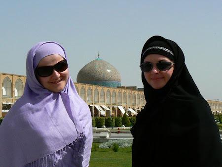 Western female tourists in Iran