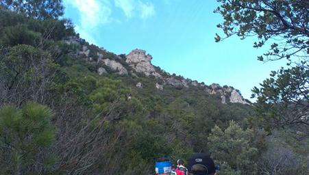 Première montée sur la sauta roc