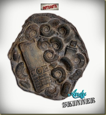 andy skinner altered art fossil outcasts 3