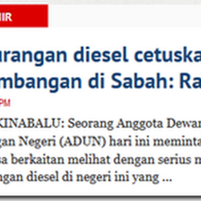 Stok diesel berkurangan ?