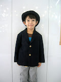 Kai in his school uniform, ready for his first day of school at Takanawa Yochien