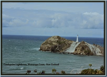Castlepoint Lighthouse from above
