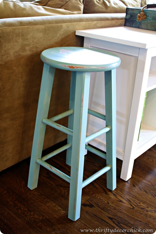 painting goodwill stool annie sloan