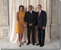 Kagame with Obamas