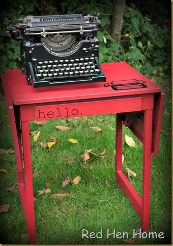 Red Hen Home Typewriter Table 4