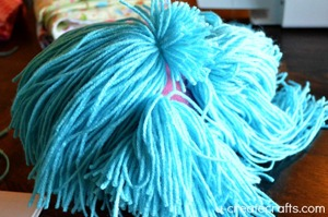 DIY Yarn Wig Tutorial 12