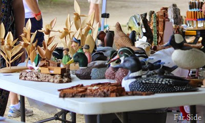 Woodcarvings at Logging Days