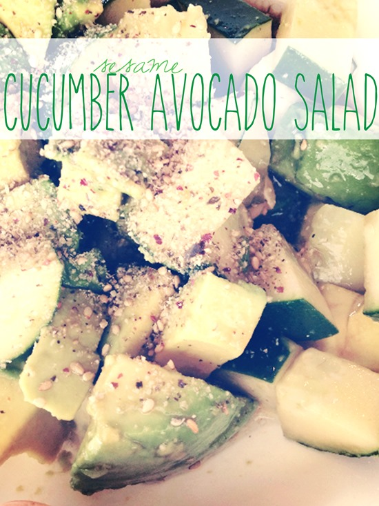 Sesame Cucumber Avocado Salad
