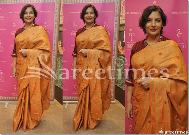 Shabana_Azmi_Orange_Saree