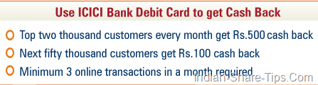 Visa Offer for ICICI Bank Debit Cardholders