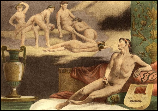 Édouard-Henri Avril - De Figuris Veneris, Male masturbation