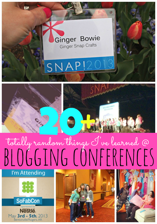 20 Totally Random Things I've Learned at Blogging Conferences