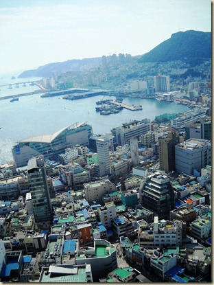 Busan Port and Jagalchi Market View
