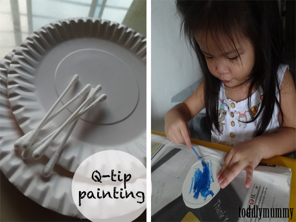 Q tip painting