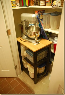 mixer cart in pantry 2