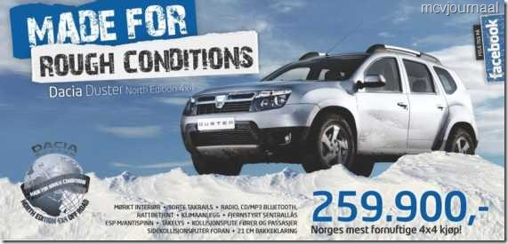 Dacia Duster in Noorwegen 01