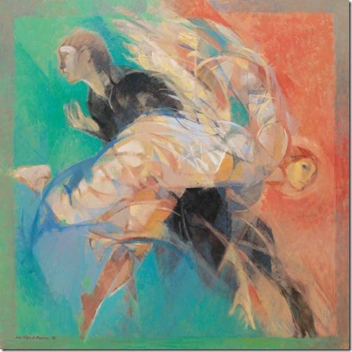 luis filipe de abreu - pintura - jacob e o anjo