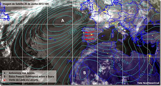 Pressão Atmosférica 26 de Junho 2013