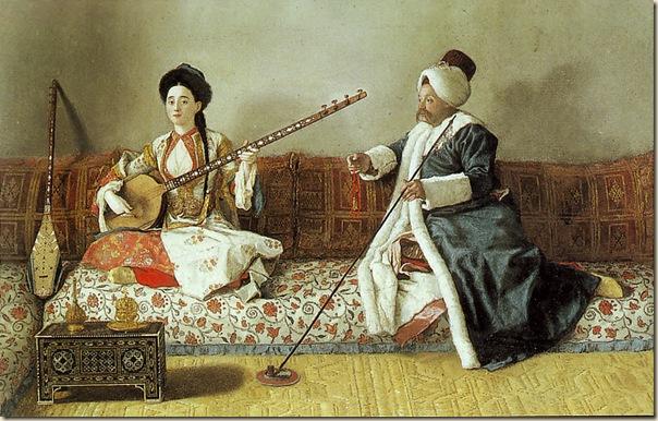 Jean-Étienne Liotard, Portrait de M. Levett & Mlle Glavani